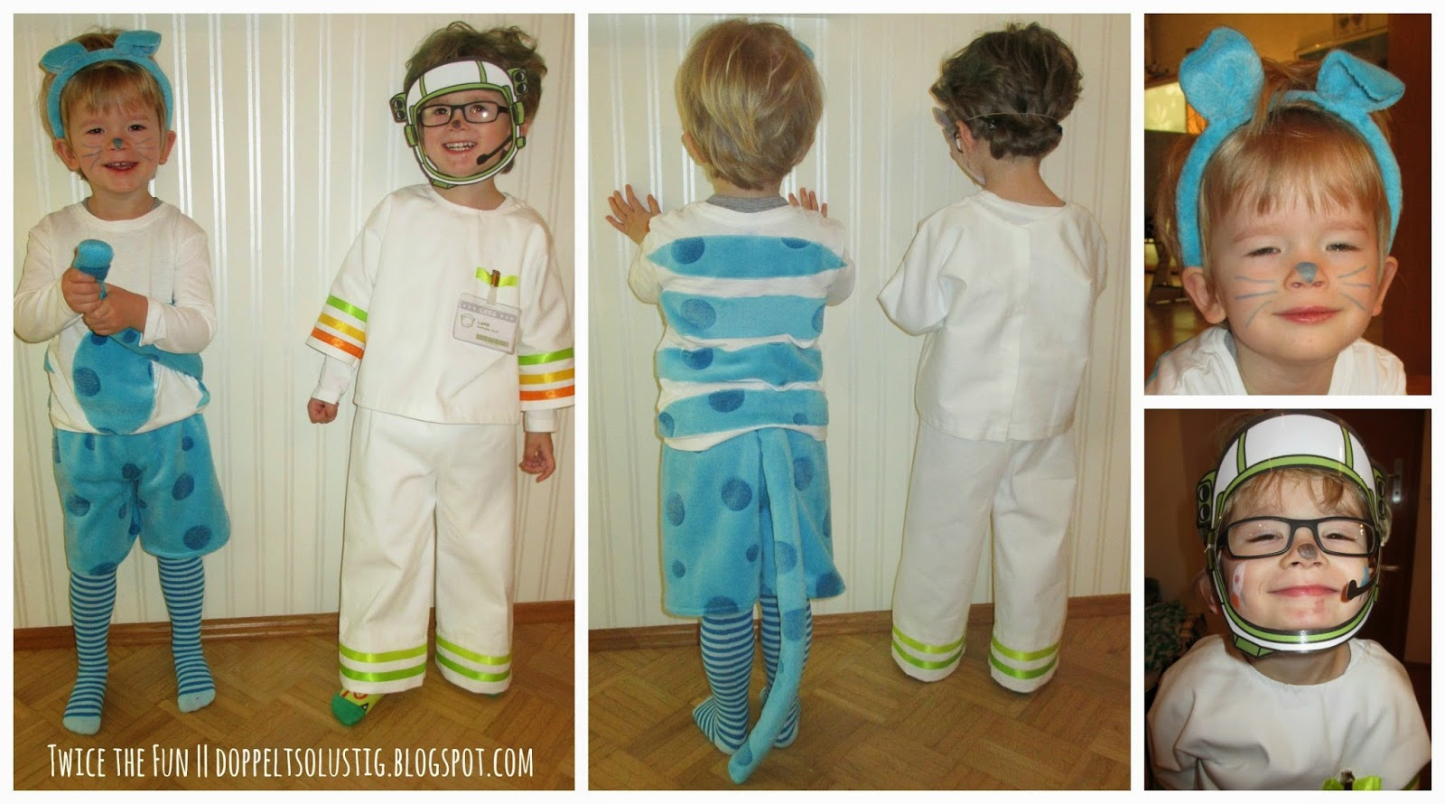 Cat and astronaut costumes || Twice the fun