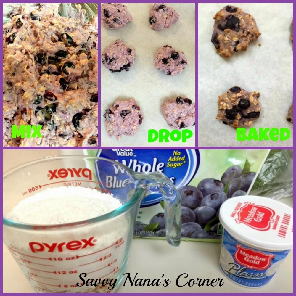 Healthy Blueberry Yogurt Dog Treats