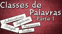 Classes de palavras parte 1 - Aula de português para concursos vestibular e ENEM
