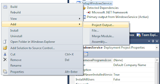 Visual Studio 2010 Add Project Output