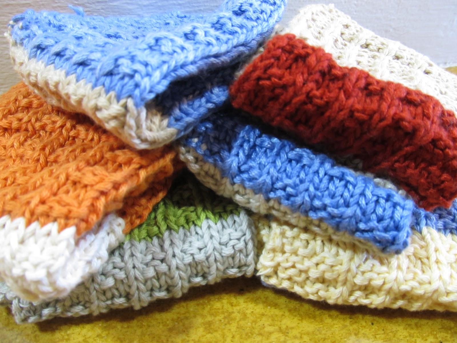 Waffle Knitting Pattern Dishcloth : arthurandsage: Knitting - Waffle weave dishcloths