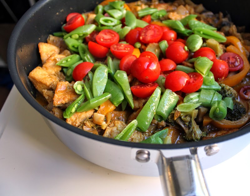 Oppskrift Tandoorigryte Tofu Tandooripaste Vegetar Indisk Kokosmelk Gryterett
