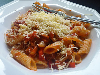 Penne with Smoked Bacon and Tomato Sauce Recipe