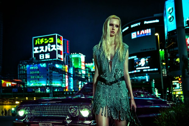 Karolina Cerven in 'Night Drive' by Jacob Hodgkinson and Keith S. Washington for Schön! Magazine Fall 2014 | Ses Rêveries