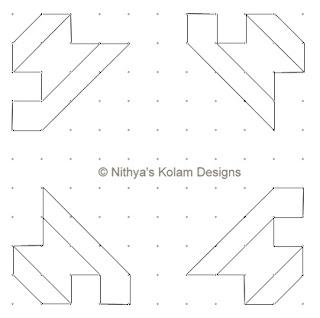 3 Siva Lingam Kolam  dots 11 x 11