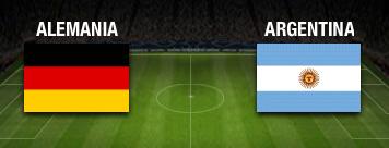 Alemania vs Argentina 13 de Julio la Gran Final del Mundial Brasil 2014