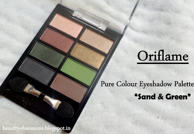 "Oriflame Pure Colour Eyeshadow Palette ""Sand & Green"" - Review, Swatches & Price"
