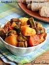 Aloo Bhindi, Okra And Potato Curry, Vendakkai Uralai Curry