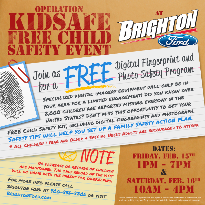Operation KidSafe - Free Child Safety Event