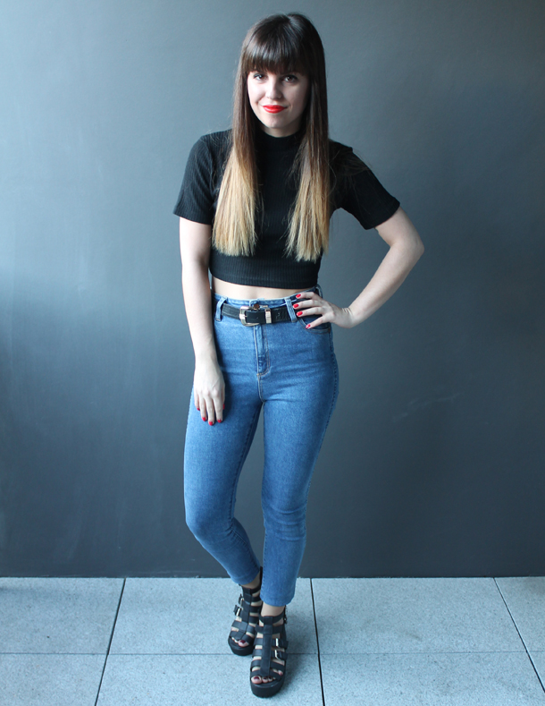 Sweet Monday blog, Missguided Isobelle high neck crop top