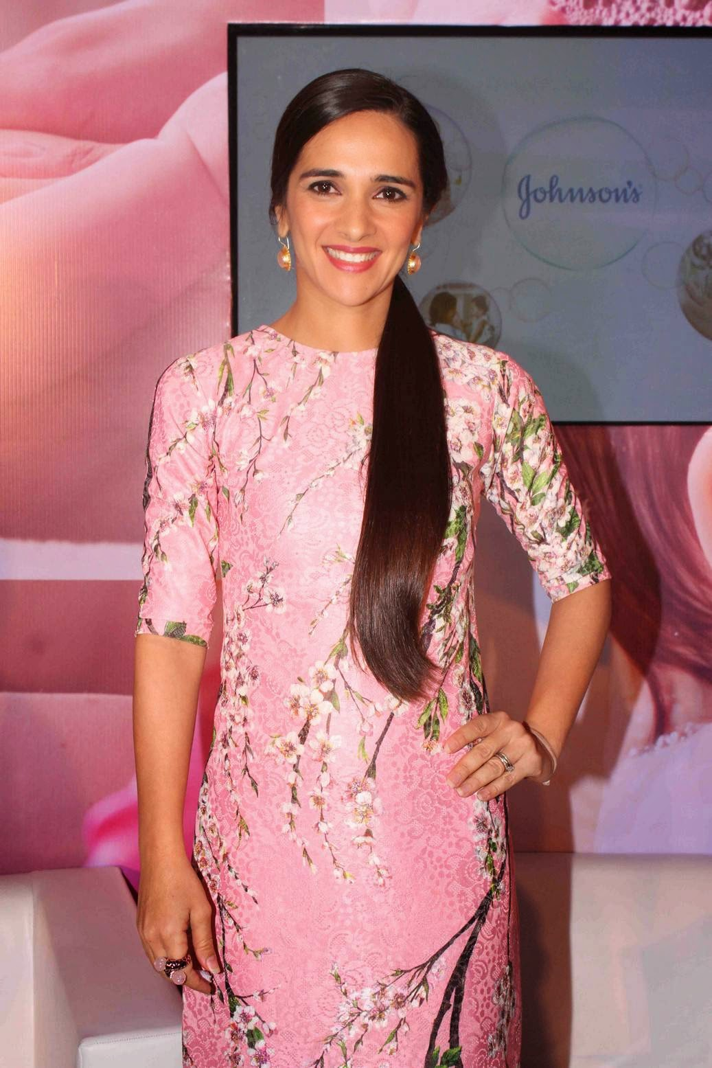 Actress Tara Sharma Latest Cute Hot Pink Short Dress Spicy Thighs Show Photos Gallery At Johnson n Johnson Press Conference
