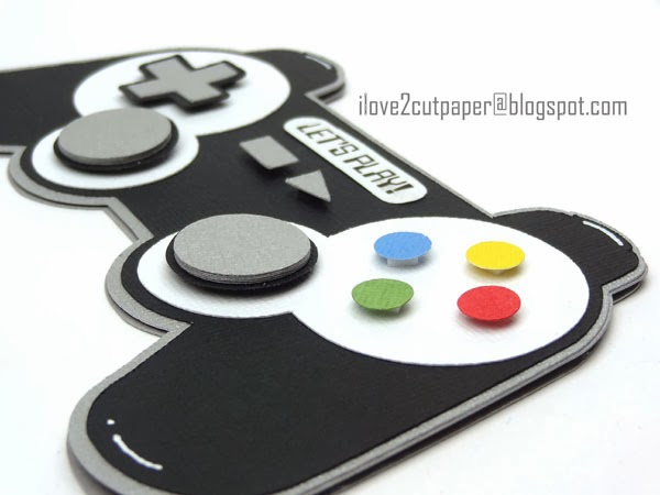 Games Controller shaped card