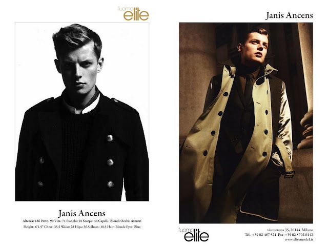 Janis Ancens, male model, elite model management