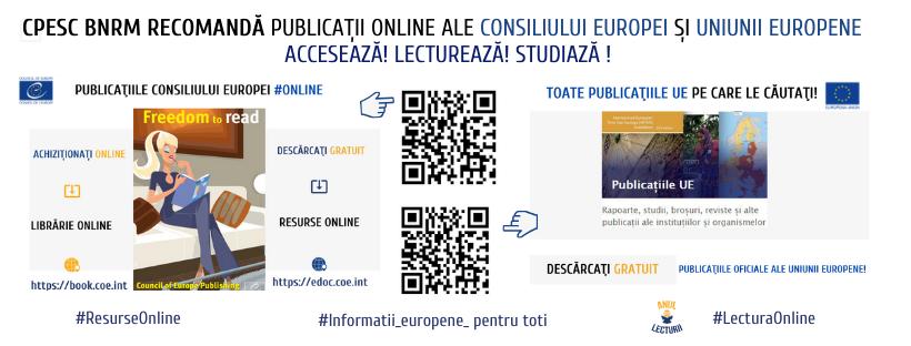 Descoperă publicațiile #online UE și CoE