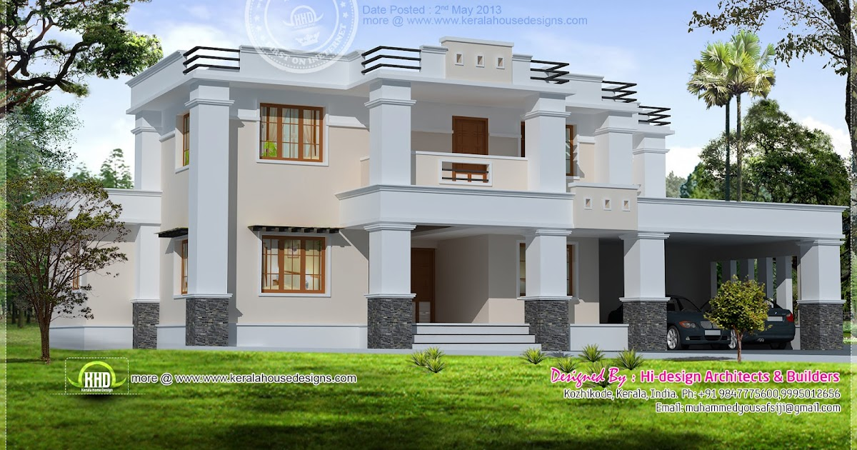 House plans and design house plans flat roof terrace for Terrace elevation