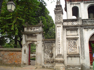 Main access gate to the Temple of Literature. Hanoi (Vietnam)