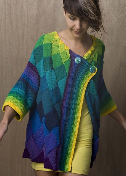 entrelac cardigan patterns, free entrelac knitting