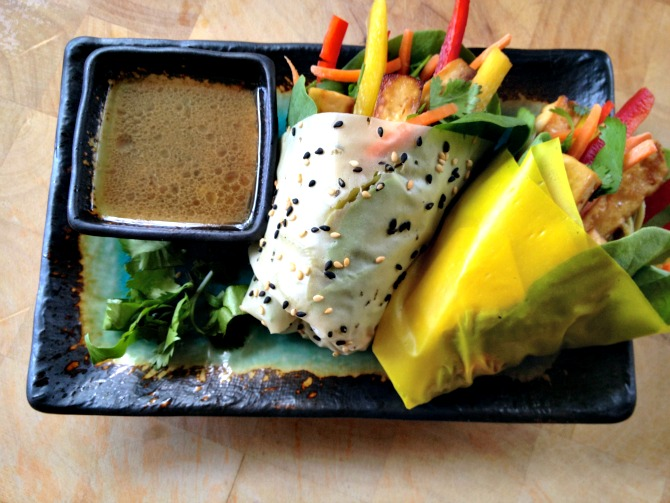 The Holland House: Tofu Wrap with Yuzu Vinaigrette