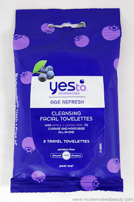 Yes to Blueberries Age Refresh Cleansing Facial Towelettes