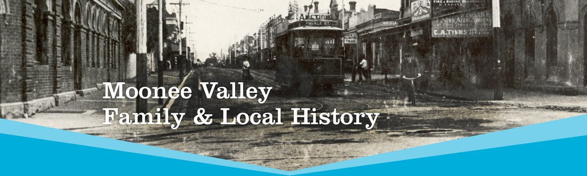 Moonee Valley Family                  <br>            &amp; Local History Blog