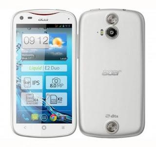 Acer Liquid E2, Smartphone Jelly Bean Berprosesor Quad Core 1.2 GHz