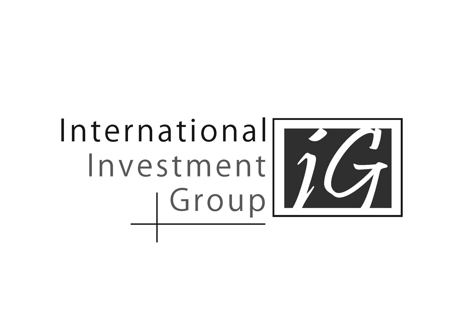 Graphic design logo international investment group for International decor group