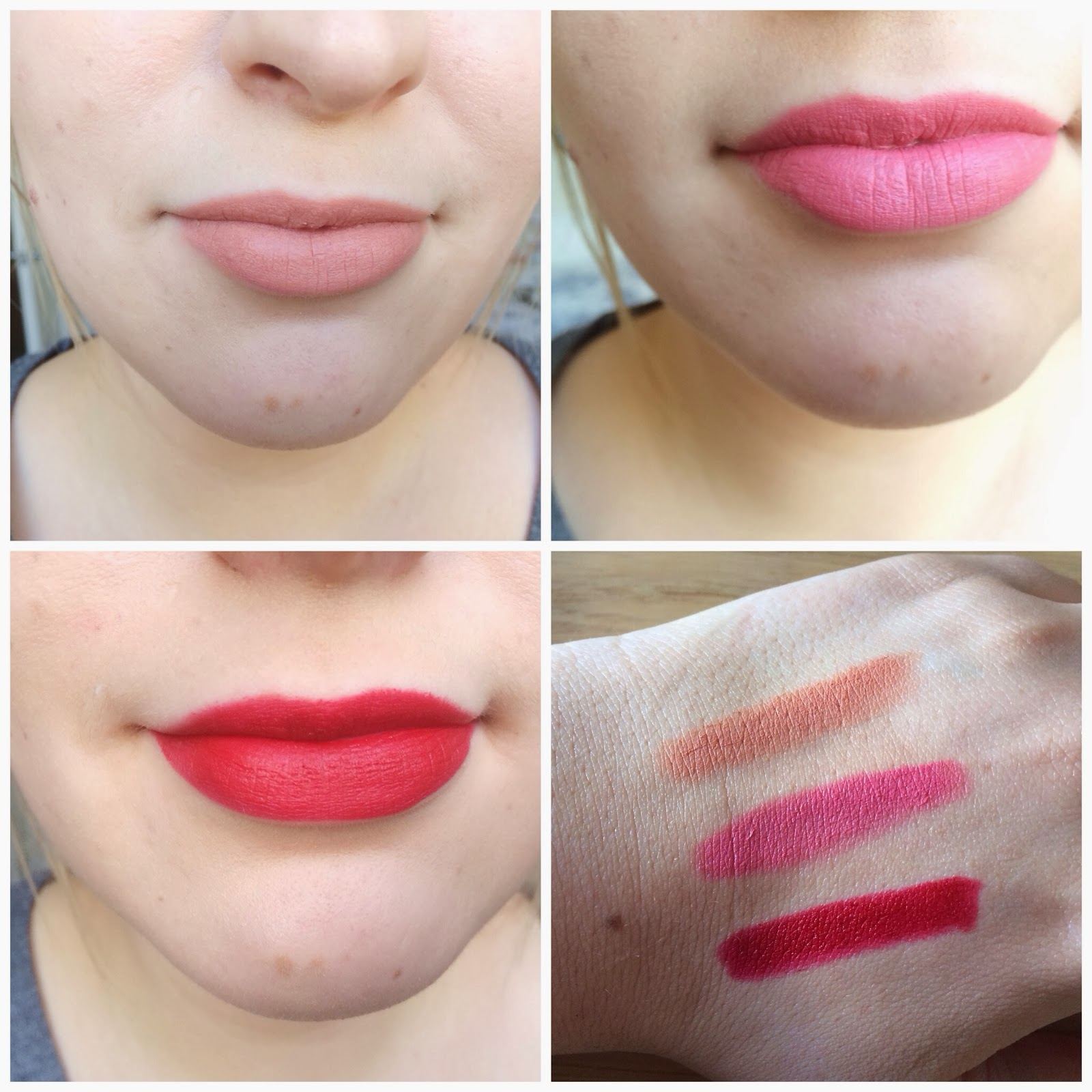 revlon matte balms swatches and review