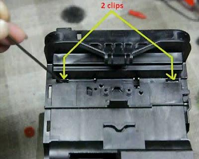 mover clips cabezal de impresión