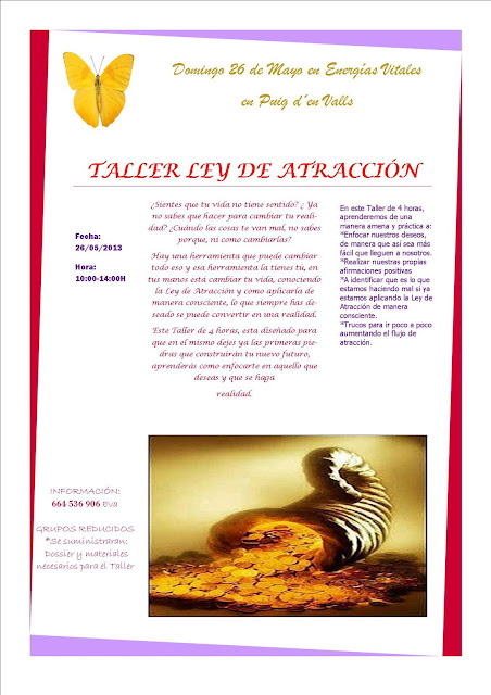Taller Ley de Atraccin 26 de Mayo