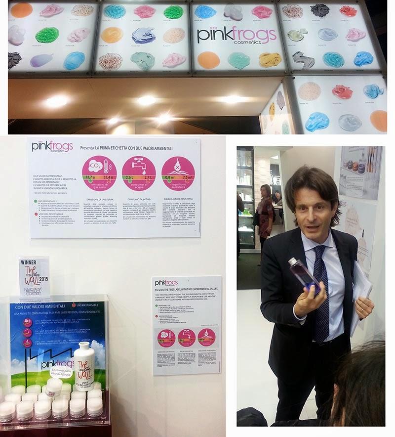 Pinkfrogs, Pinkfrogs a Cosmopack 2015, Cosmopack 2015, Cosmetica Italia Cosmoprof 2015, Cosmoprof 2015, Cosmetica Italia