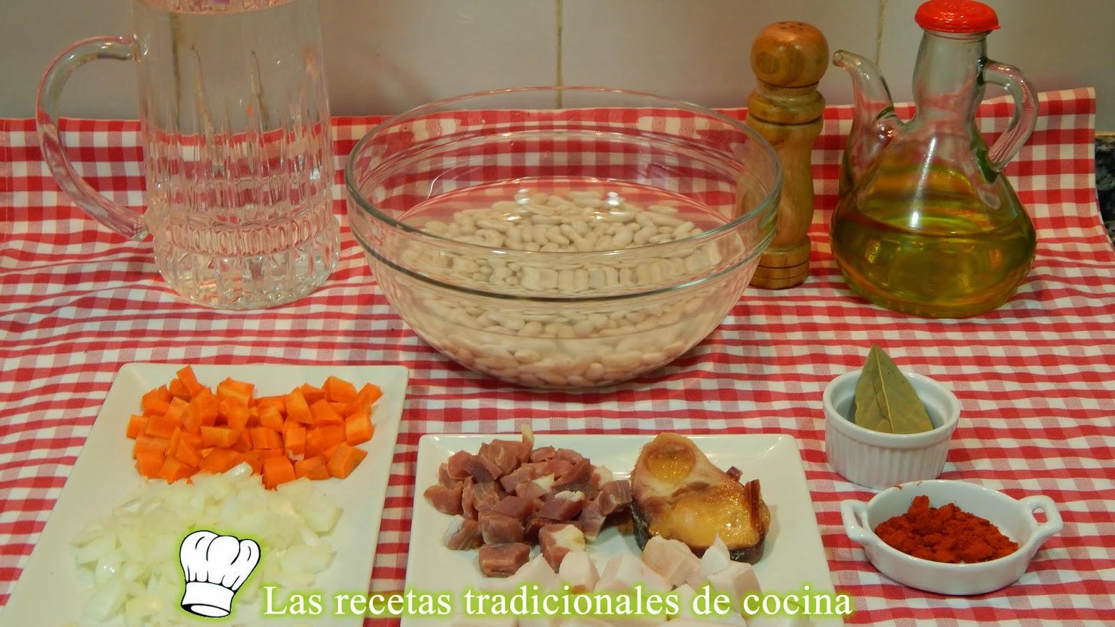 Receta de alubias blancas con jamón