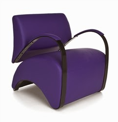 Purple Recoil Lounge Chair by OFM