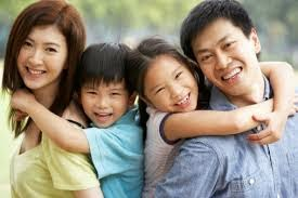 Chinese Family of Four