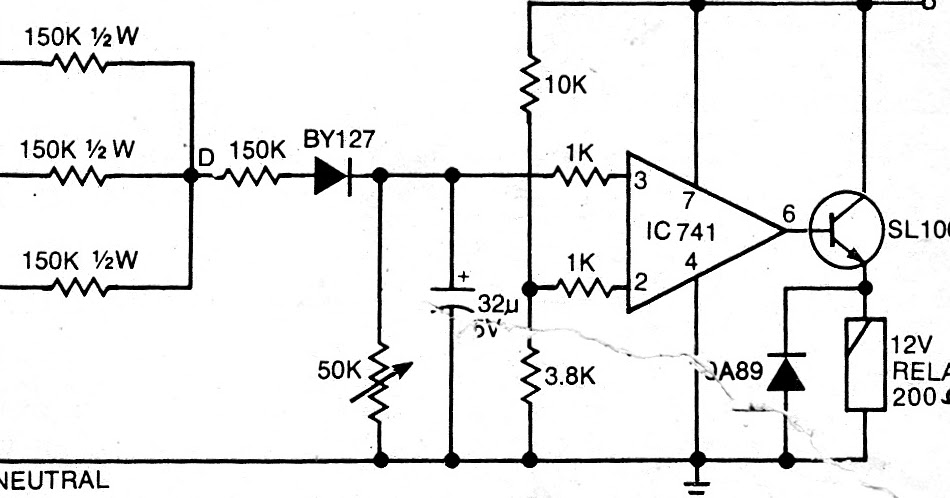 electronics projects  simplest single phase preventor circuit for three phase motor potection
