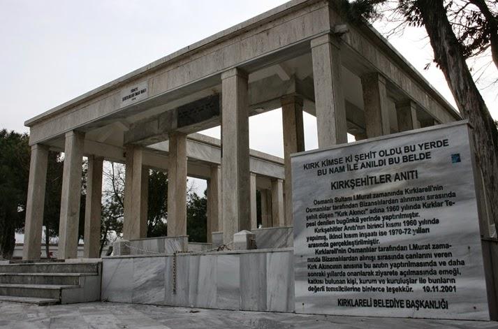 Kırk Şehitler Anıtı Kırklareli