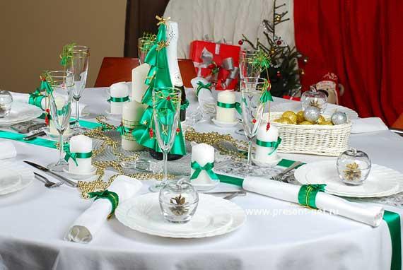 как украшать новогодний стол
