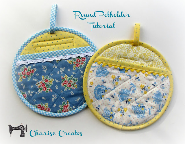 Charise Creates Christmas Sewing Round Potholder And A