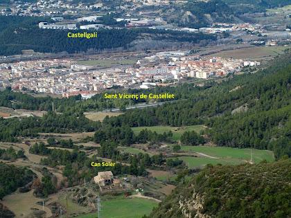 La Vall de Can Soler amb Sant Vicenç i Castellgalí al seu darrere