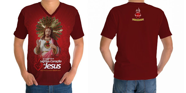 Camiseta da festa do Sagrado Coração de Jesus 2015 já estão a venda