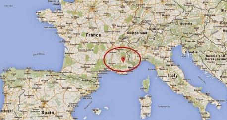 lokasi tempat jatuhnya pesawat Germanwings