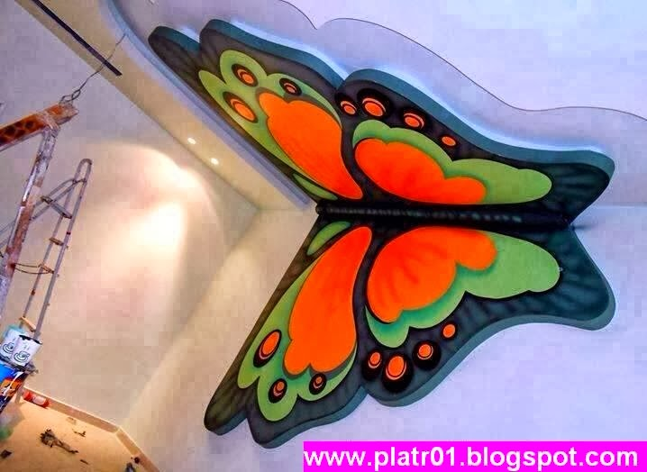 Platre 2014 d coration papillon for Decoration platre marocain 2014