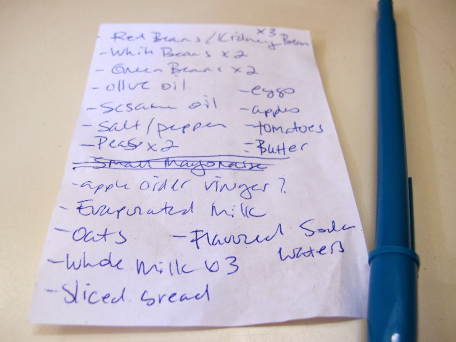 Windtraveler Grocery Shopping Island Style A Sample List