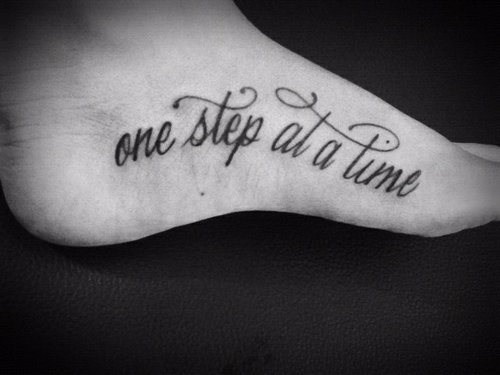 quote tattoos on foot - photo #44
