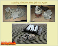 recycling aluminum in a homemade foundry