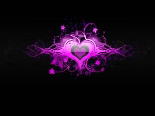 EMO Pink Hearth Dark Gothic Wallpaper
