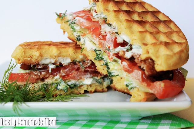 Waffle BLT with Fresh Herb Spread #EggoWaffleOff | Mostly Homemade Mom