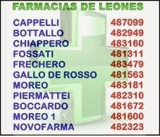 TELÉFONOS - FARMACIAS DE LEONES