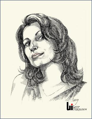 Portrait gratuit par Igor Lukyanov (hachures croisées)
