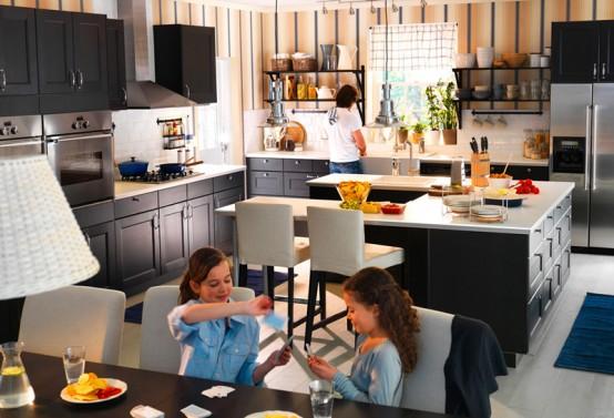 Dise o cocina moderna con concepto funcional casas decoracion - Ikea cucine 2012 ...