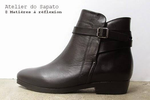 Bottines noires Atelier do Sapato